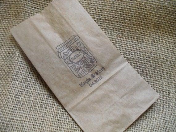 Mason Jar Wedding Favor Kraft Paper Bags Coffee Bags Cookie