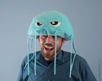 Jellyfish Hat Plush Fleece - Light Turquoise