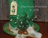 EPATTERN -- Primitive St. Patrick's Leprechaun Hat Table Sitter Centerpiece