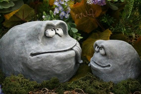 Items Similar To Funny Garden Rock Face Heads