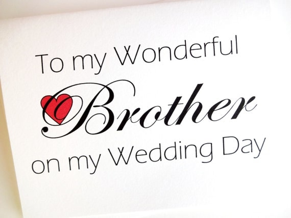 Brother Wedding Card Thank You For