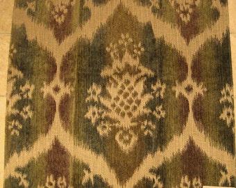Pindler Seminole Ombre Chenille Olive Designer Fabric Sample