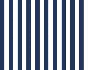 Riley Blake Designs, Half Inch Stripe in Navy (C530 21)