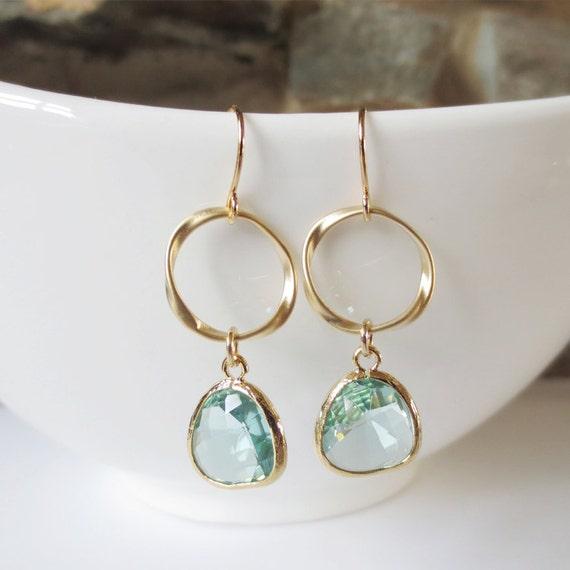 Items Similar To Sparkle Hoop Drop Earrings, Dangle