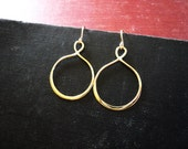 Infinity Earrings in Gold Filled and Brass - Simple Everyday Gold Geometric Earrings