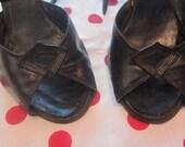 Vintage 1940s Black Heels
