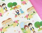 Cutie Jane Austen Pride and Prejudice Fabric - 1 yard - a Smile Recipe original design