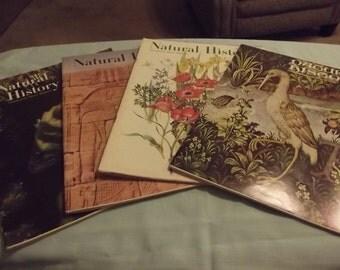 4 1960's Natural History Magazines