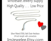 TRY ME SAMPLE Jewelry Sample 1 Ball Chain Necklace Silver Steel
