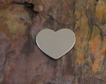 """20 Deburred 20G Nickel Silver 1/2"""" CHUBBY HEART Stamping Blanks"""