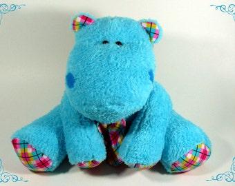 Handmade soft plush hippo