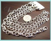 Bulk 12 Pack Silver Plated Bracelet Chains - Blank - Mixed Styles 8 inch  (CSB4)