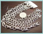 Bulk 12 Pack Silver Plated Bracelet Chains - Blank Charm Bracelets - Mixed Bracelet Styles 8 inch  (CSB4)