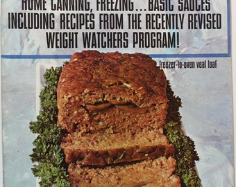September 1972 Weight Watchers Magazine Back Issue Ads for Framing