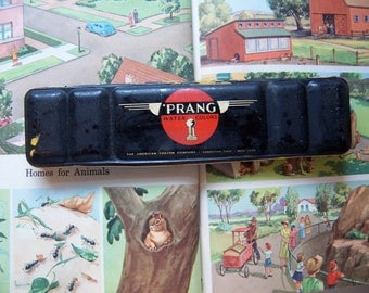 vintage prang water colors tin
