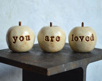 You are loved gift / Christmas gift for her / gifts for mom / apple gift for women grandma mother / teenager gift for girls