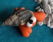 Hermit Crab - Paguro Bernardo (No9) - A Little Polymer Clay Creation