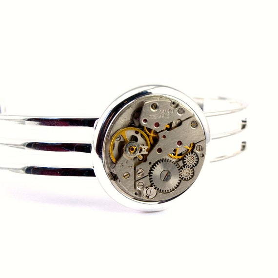 london particulars vintage watch ucpycled into bracelet