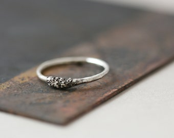 Spore Ring No. 2 - Oxidized Sterling Silver Ring