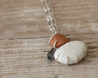 Formation Necklace - Sterling Silver, Porcelain and Terracotta