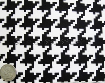 Michael Miller LARGE HOUNDSTOOTH Black & White - Graphic Cotton Quilt Fabric - by the Yard, Half Yard, or Fat Quarter Fq