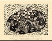 Viper woodcut limited edition Arcanum Bestiarum bestiary print