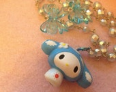 My Melody Baby Blue Bows Beaded Necklace