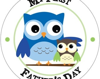 My First Father's Day - Holiday Baby Waterproof Glossy Sticker - H02-1001