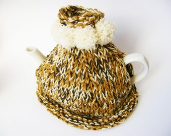 Tea cozy, teapot cosy, tea cosy knit,  home decoration, hostess gift, tea cozy knit, the tea cozy, brown tea cozy, mothers day sale