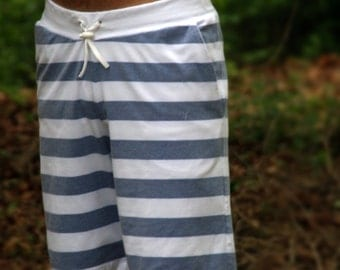 Instant Download GreenStyle Men's Hampton Shorts Pattern and Tutorial Teen's and Men XS to XXL in Comfy Knit