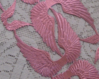 Made In Germany Pink Dresden Die Cut Angel Wings