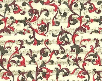 Made In Italy Authentic Florentine Paper Christmas Music Design By Rossi  R218