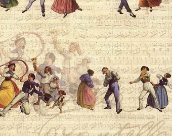 Made In Italy Authentic Florentine Paper Traditional Italian Dancers  Tassotti