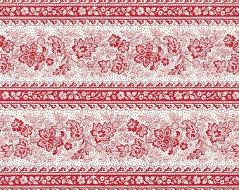 Made In Italy Authentic Florentine Paper Tassotti Red Floral Stripe IP T553