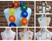 Your Choice of 3 CROCHET Scarf PATTERNS