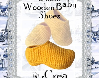 27) Dutch Wooden Baby Shoes