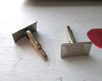 CUFF LINKS VINTAGE Geometric Gold Tone