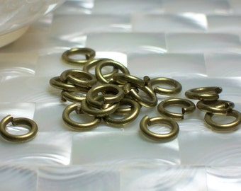 10pcs 10mm 13 gauge Heavy Duty Antique Brass Plated Steel Open Jump Rings Jewelry/Craft Supplies Jewellery Hardware