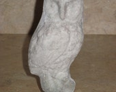 Unfinished paper mache Halloween Owl Standing on Tree Limb