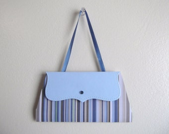 Purse gift card - Blue with stripes
