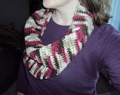 Chocolate Covered Cherry Crochet Cowl