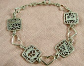 Say I Love You with this Sterling Sweetheart Panel Bracelet