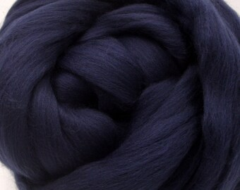 4 oz. Merino Wool Top - Prussian Blue