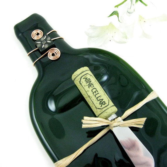 Green Flattened Wine Bottle Tray - Eco Friendly and Recycled