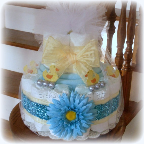 Items Similar To Little Ducky Bubbles Diaper Cake Baby