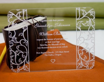 Custom acrylic invitations for Wedding or any celebration
