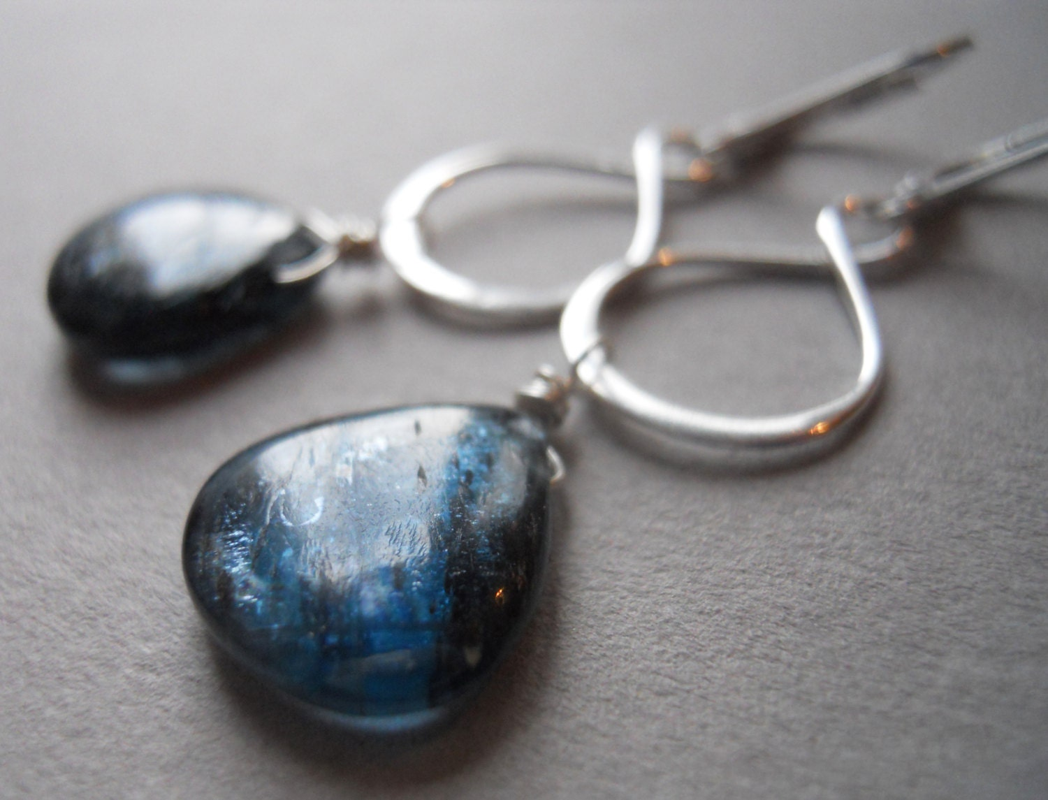 Kyanite infinity earrings - $78.00 USD