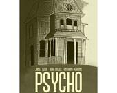 Film poster Psycho 12x18 inches retro print