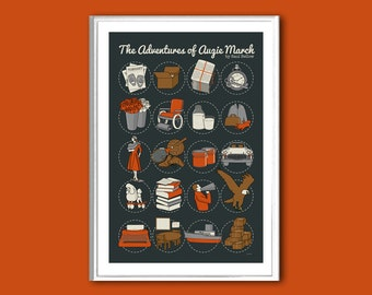 The Adventures of Augie March retro print in various sizes