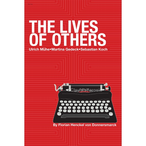 Retro poster The Lives of Others 12x18 inches movie print